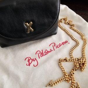 Authentic Vintage Paloma Picasso Black Calfskin
